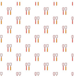cutlery bake pattern seamless vector image