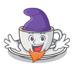 Elf coffee character cartoon style vector