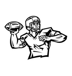 Football player cartoon vector