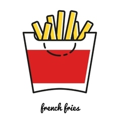 French Fries potato icon Line art vector image