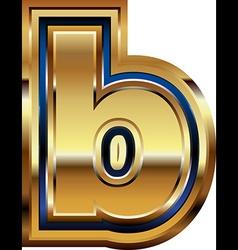 Golden font letter b vector