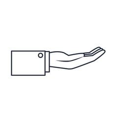 Hand businessman help support gesture image vector