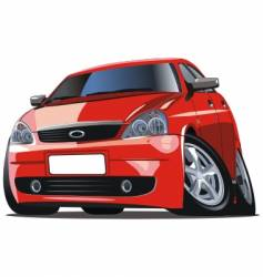 modern cartoon car vector image vector image