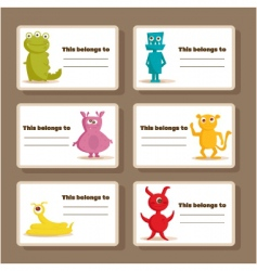 monster tags vector image