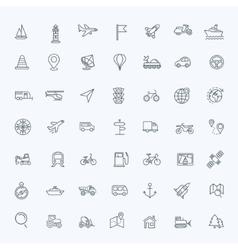 Outline web icons set - navigation vector