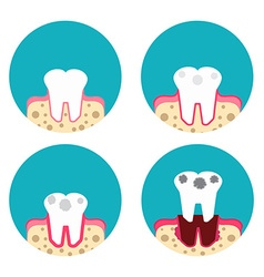Periodontal disease icons set vector image