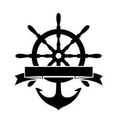 Steering wheel and anchor vector