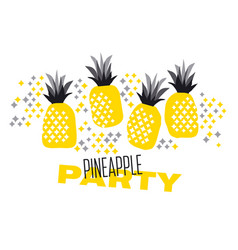 summer abstract decorative pineapple sketch vector image