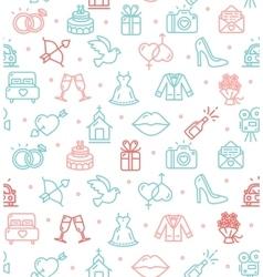Wedding background pattern vector