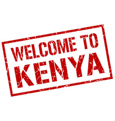welcome to kenya stamp vector image vector image