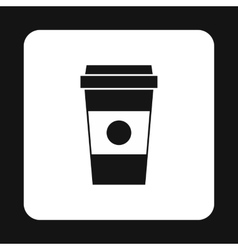 Cup of coffee icon simple style vector