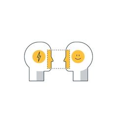 Emotional intelligence concept psychology vector