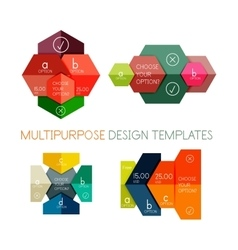 Infographic banners modern paper templates vector