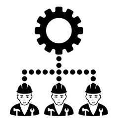Service staff flat icon vector
