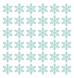 Snowflake winter symbol vector