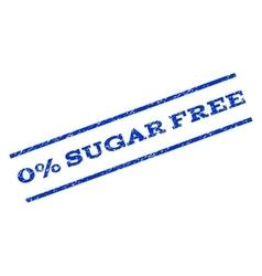 0 percent sugar free watermark stamp vector