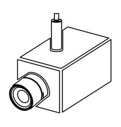figure video camera interior icon vector image
