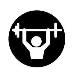 Body building pictogram symbol vector
