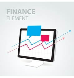 Finance diagram icon element computer pc display vector