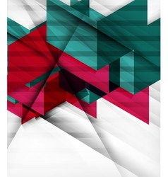 Futuristic blocks geometric abstract background vector