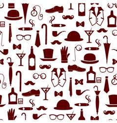 vintage manly items vector image