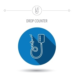 Drop counter icon medical procedure sign vector