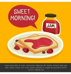 Breakfast design concept with sweet morning remark vector