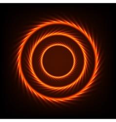 Abstract Fire Circles vector image