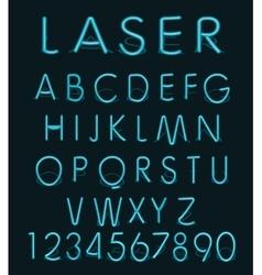 Blue light glass reflect laser neon vector