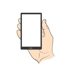 Smartphone in hand man vector