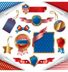 patriotic signs vector image