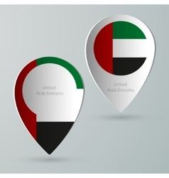 Paper of map marker for maps united arab emirates vector