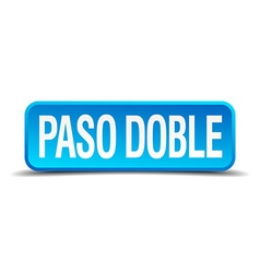 Paso doble blue 3d realistic square isolated vector image
