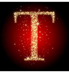 Letter star t vector