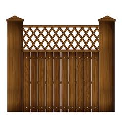 A wooden gate vector