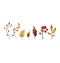 autumn watercolor style hand drawn seasonal vector image vector image