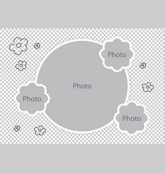Baby photo frames amazing montages favorite photos vector