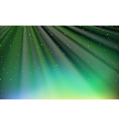Background design with stars in green sky vector