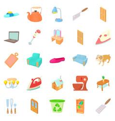 Bascule icons set cartoon style vector