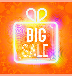big sale words in box of big vector image vector image