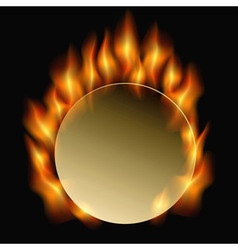 Burning circle vector