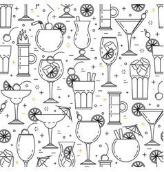 cocktail alcoholic seamless pattern vector image