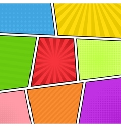 Colorful comic background vector image vector image