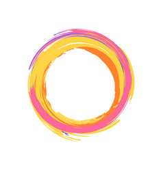 colorful icon of circle on vector image