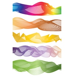 Curve rainbow graphic pattern vector