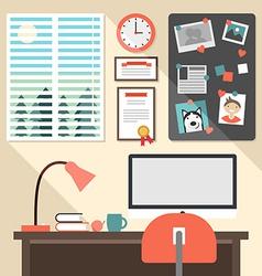 Flat design concept of modern home or busine vector