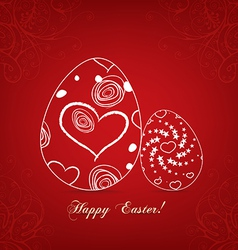 Floral easter egg sweet love vector