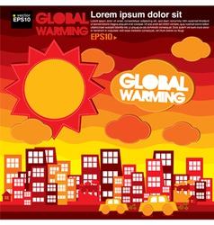 Global warming concept EPS10 vector image vector image