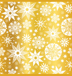 Gold white abstract doodle stars seamless vector