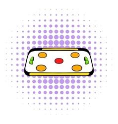 Ice hockey rink icon comics style vector image vector image